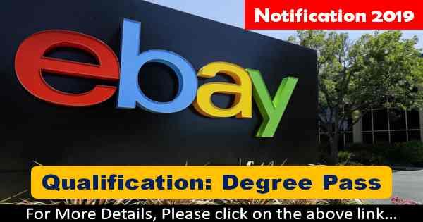 ebay Recruitment – Various Executive Posts 15 February 2019